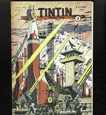 Journal of Tintin France N°50 Du 8 Octobre 1949 Rare Cover Jacobs