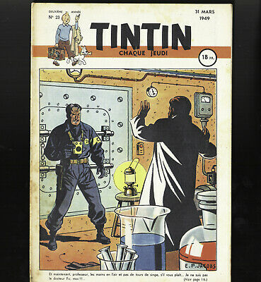 Journal of Tintin France N°23 Du 31 Mars 1949 Cover Jacobs Side 40