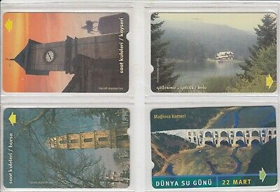 4 Telecarte / Phonecard Asie .. Turquie Pack/Mix Paysages Vues Magnetique