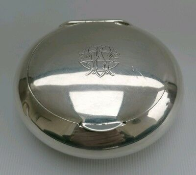Vtg 1919 William Neale Solid Silver Oval Tobacco Trinket Jewellery Pouch Box 91g