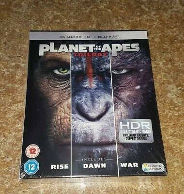 Planet Of The Apes Trilogy : 4K Ultra HD Blu-ray (New Sealed)