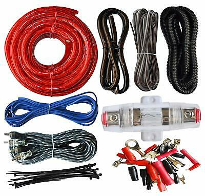 4 GAUGE AMP KIT Amplifier Install Wiring Car Complete 4 Ga Installation Cables
