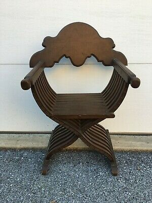 Antique Italian Renaissance Savonarola X Form Scissor Chair In Good Condition