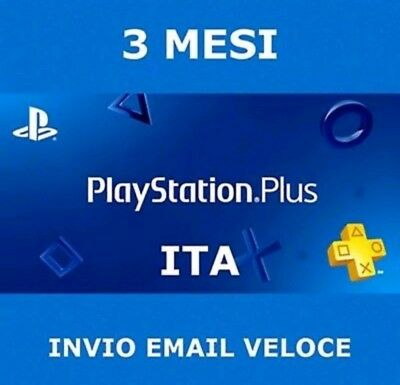 Playstation Plus PSN 3 mesi PS plus abbonamento 90 giorni