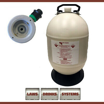 30 Litre Beer Line Cleaning Bottle Complete with D-Type Top