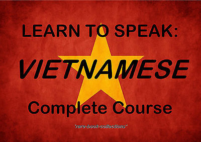 Learn To Speak Vietnamese - Language Course - 22 Hrs Mp3 & 2 Books All On Dvd!