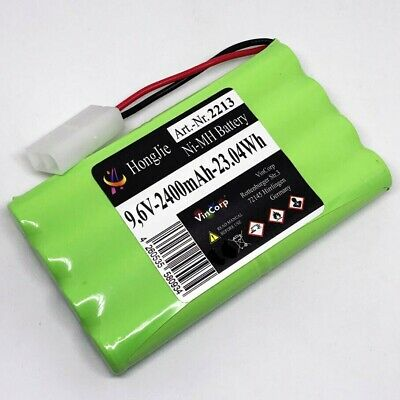 9,6V NiMH Akku 2400mAh AA Mignon L4x2 Mini-Tamiya Stecker Rock Crawler RC Power