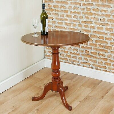 Original Antique Victorian Mahogany Oval Tilt Top Tripod Wine Table Occasional