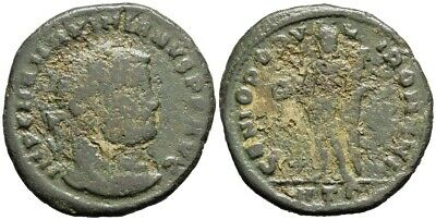 FORVM Maximian AE26 Follis Heraclea Genius of the People of Rome