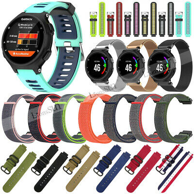 Silicone Nylon Watch Band Strap For Garmin Forerunner 220 230 235 620 630 735XT