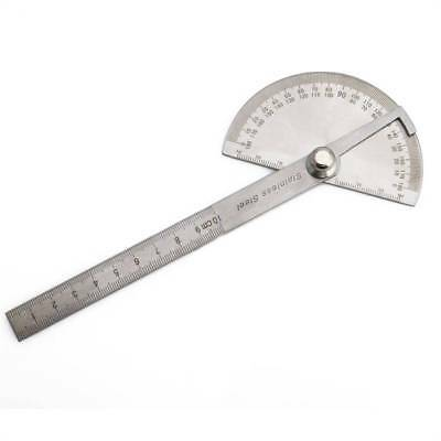 Stainless Steel 0-180 degree Protractor Angle Finder Arm Measuring Ruler Tool d