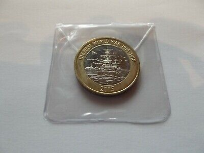 2015 Brilliant Uncirculated £2 Coin -  WWI Royal Navy {H.M.S. Belfast}