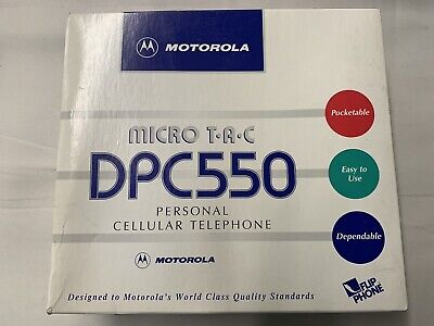 Vintage 1995 Motorola MicroTAC DPC550 w/ Original Box Never Used With Ex/battery