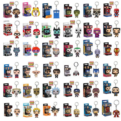 Funko Pop Keychains New Super Hero Anime Marvel DC Action Figure  Toys