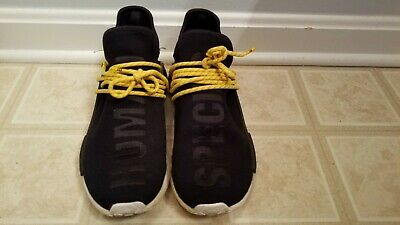 6f36c0cdcbb6d Adidas Pharrell x NMD Human Race Black and Yellow Lace Size 9.5 100%  AUTHENTIC