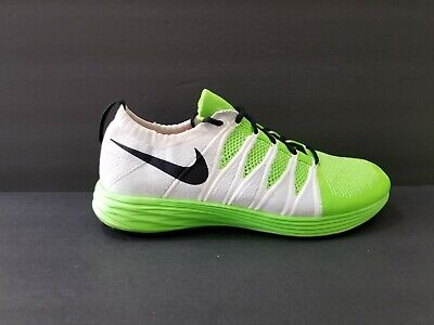 info for e9ed1 9f330 Nike Lunar Flyknit 2 Mens Size 10 Running Shoes 1 White Black Green