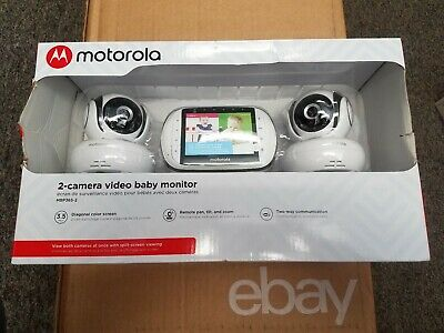 """NEW!! MOTOROLA  VIDEO BABY MONITOR 2 Cameras, 3.5"""" Color MBP36S-2 Free Shipping"""
