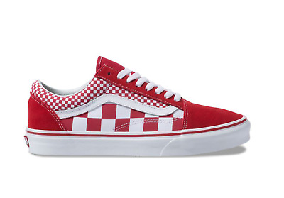Details about New Vans Old Skool Skate Shoe Red White Mens Shoes