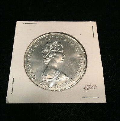 1973 $5 Commonwealth Of The Bahama Islands Sterling Silver Coin