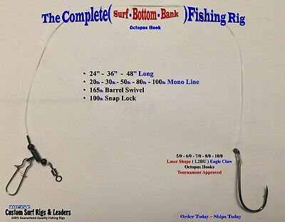 5 . Complete Octopus ( Surf - Bottom - Bank ) Fishing Rigs Striper Drum Catfish