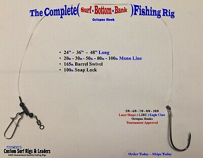 3 . Complete Octopus ( Surf - Bottom - Bank ) Fishing Rigs Striper Drum Catfish
