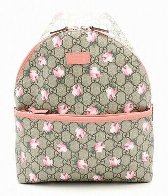 463b73283 Authentic Unused GUCCI GG Supreme Backpack Flowers PVC 271327 200047 Rank S