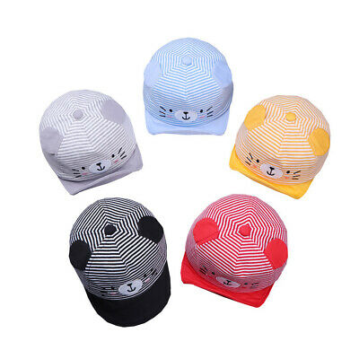 Baby Cap Summer Caps Boys Girl Pring Baby Bear Baseball Hats Striped Adjustable