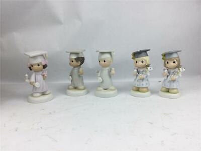 Precious Moments Graduation Figurines All In Beautiful Condition Lot Of 5
