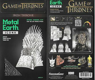 Game of Thrones Iron Throne Metal Earth ICONX 3D Steel Model Kit NEW SEALED