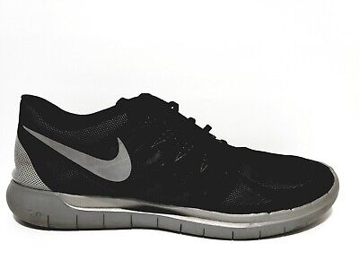 new style e3858 244b1 Nike Free Run 5.0 Mens Size 14 Running Shoes Reflective Silver Black 685168  001