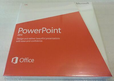 Microsoft PowerPoint 2013 Retail DVD Install PC 1 Use