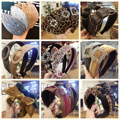 Womens Headband Twist Hairband Bow Knot Cross Wide Headwrap Hair Band Hoop Lot