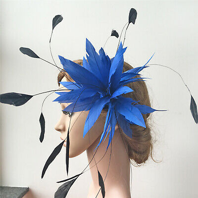 Goose Twisted Mount Stripped Coque Feather Flower Millinery Hats Fascinator Trim