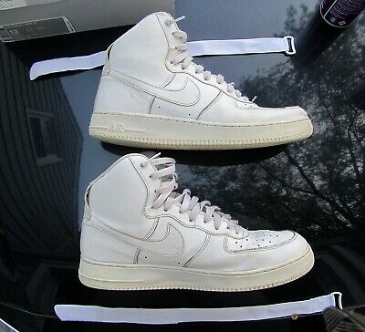 save off a1c4b 25698 Nike Air Force 1 High 07 White Men s Leather Basketball Shoes 315121 115  Size 13