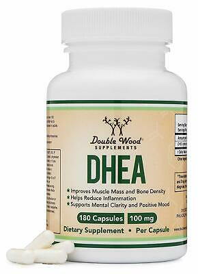 DHEA 100mg 180 Capsules Third Party Tested, Made in The USA (Max Strength, 6 M