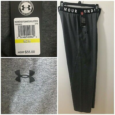 Under Armour Womens Gray M UA Favorite Midrise Wide Leg Pants $55 NWT #1320620