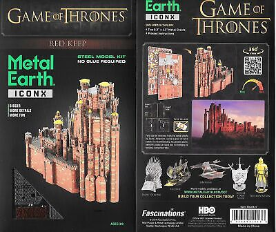 Game of Thrones Red Keep Castle Metal Earth ICONX 3D Steel Model Kit NEW SEALED