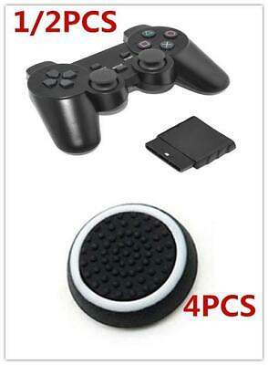1/2X For PS2 2.4GHz Wireless Bluetooth Game Controller Dual Shock Gamepad Joypad