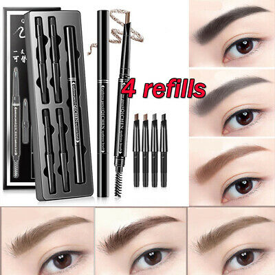 5Pcs Double Ended Eyebrow Pen Long Lasting Waterproof  Paint Eye Brow Pencil