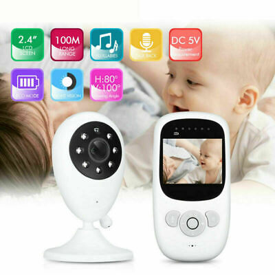 DE Digital Wireless Babyphone mit Kamera Farbe babyfone Video Monitor Nachtsicht