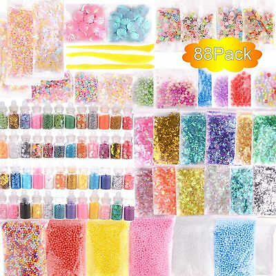 Slime Kit Set 88Pcs/Pack Accessories Beads Charms For DIY Slime Supplies Kit