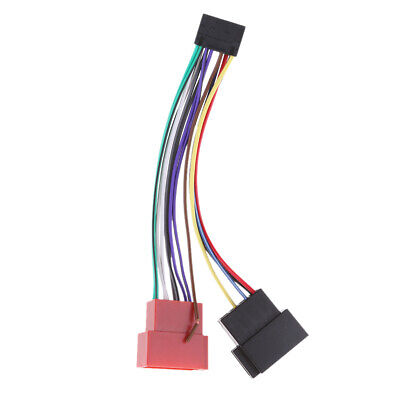 car stereo radio iso harness converter adaptor cable loom 16 pin for kenwood