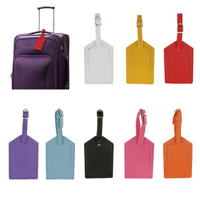 8pcs Luggage Tag Travel Leather Tags for Business Suitcase Tags Name Card