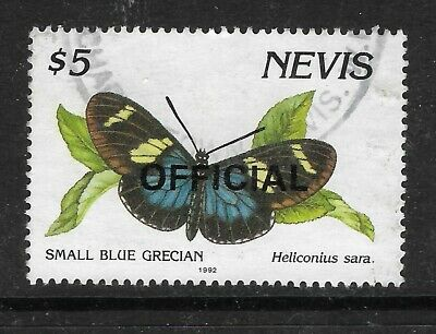 NEVIS 1992 $5 BUTTERFLY Heliconius Sara OFFICIAL STAMP Used (No 3)
