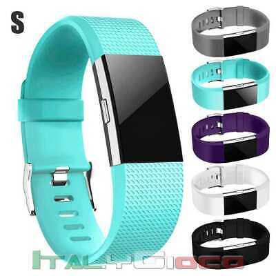 Band Replacement Wrist Strap TPU Silicone for Fitbit Charge 2 Pale Blue Size S