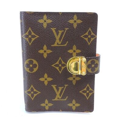 LOUIS VUITTON Monogram Agenda Koala R21013 Day Plannne Cover Brown Canvas