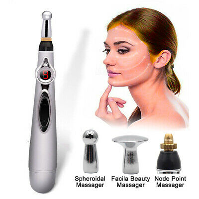 Acupuncture Pen FACIAL Massage Therapy Body Pain Relief Meridian Energy Pulse