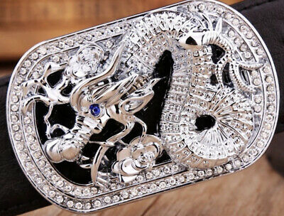 Dragon Diamonds Designer Luxury Pin Buckle Only For 38 Mm Belt Buckles Unisex
