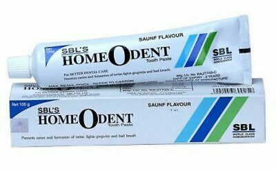 5 x SBL Homeodent Tooth Paste for Caries, Gingivitis 100gm Best deal Free Post