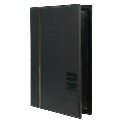 SECURIT MENU COVER HOLDER BLACK A5 Restaurant Cafe Hotel Table